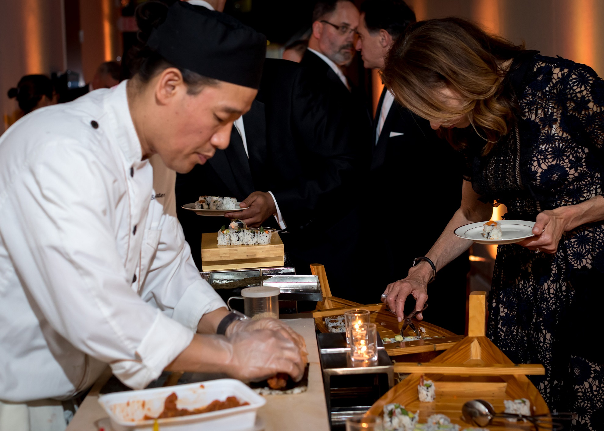 sushi bar at event birthday party planned by event planning dc
