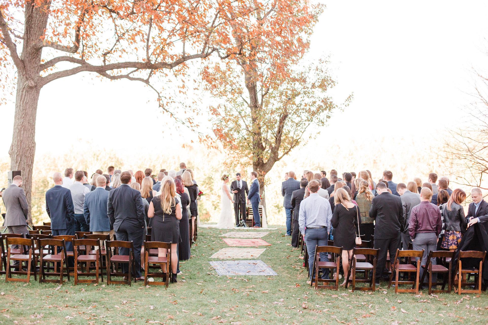 Outdoor wedding in the park