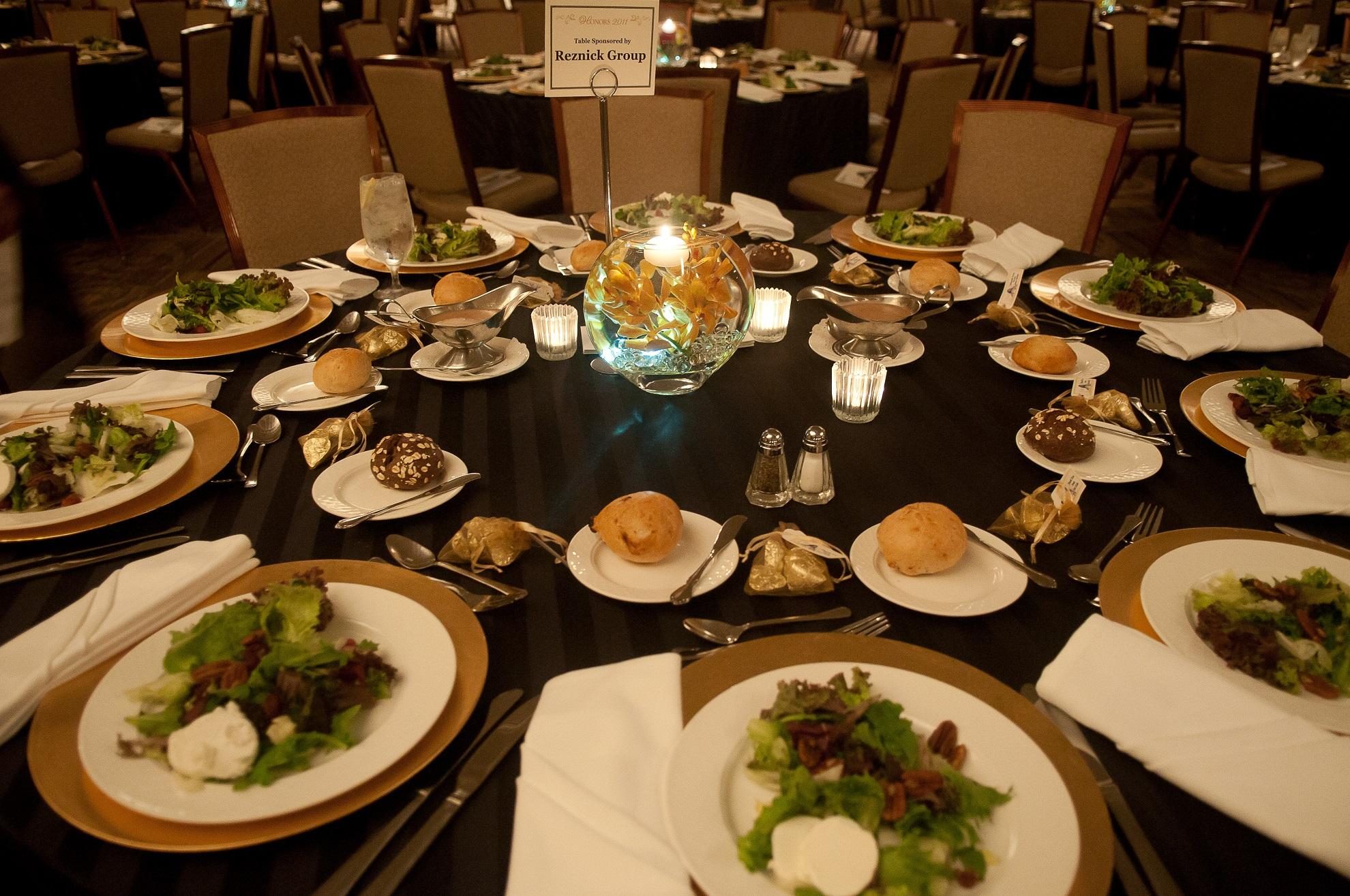 salads at wedding ceremony