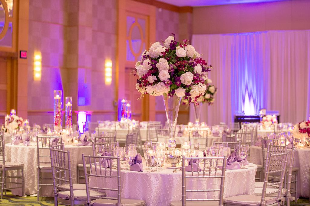wedding decor with pink romantic tint