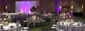 reception ceremony tables set up for wedding event