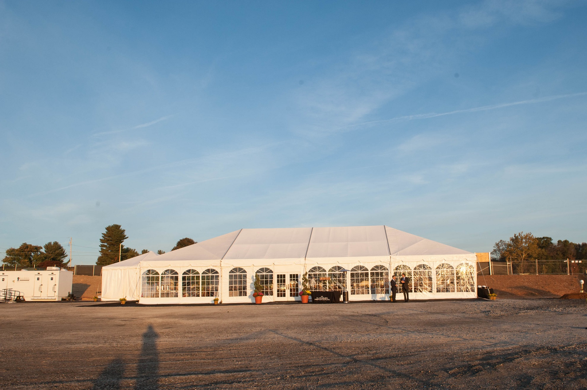 event tent at corporate ceremony planned for by event planners at event planning DC