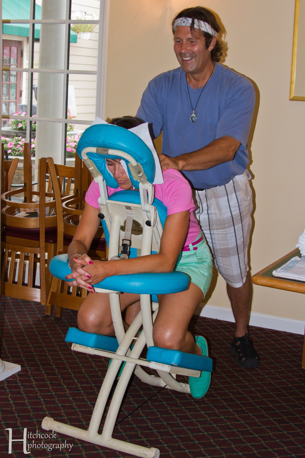 Event Planning DC Brought in Massage Chairs For Girls On the Green Non-Profit Event