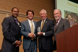 non-profit event with four sponsors given an award