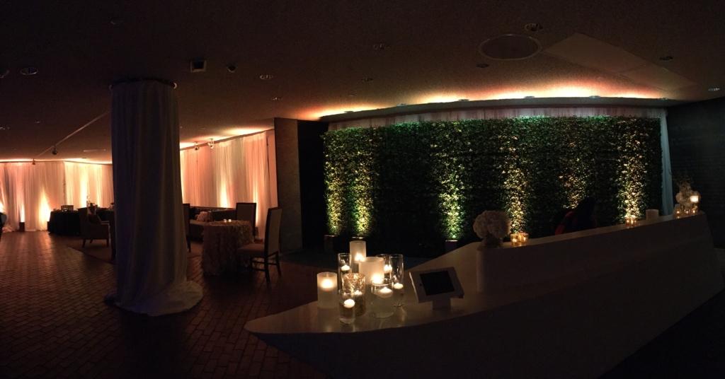Black Tie Birthday Celebration Reception Area