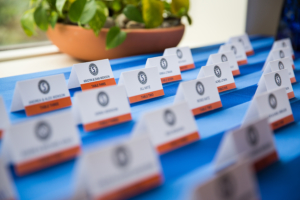 Name cards for place settings at bar mitzvah