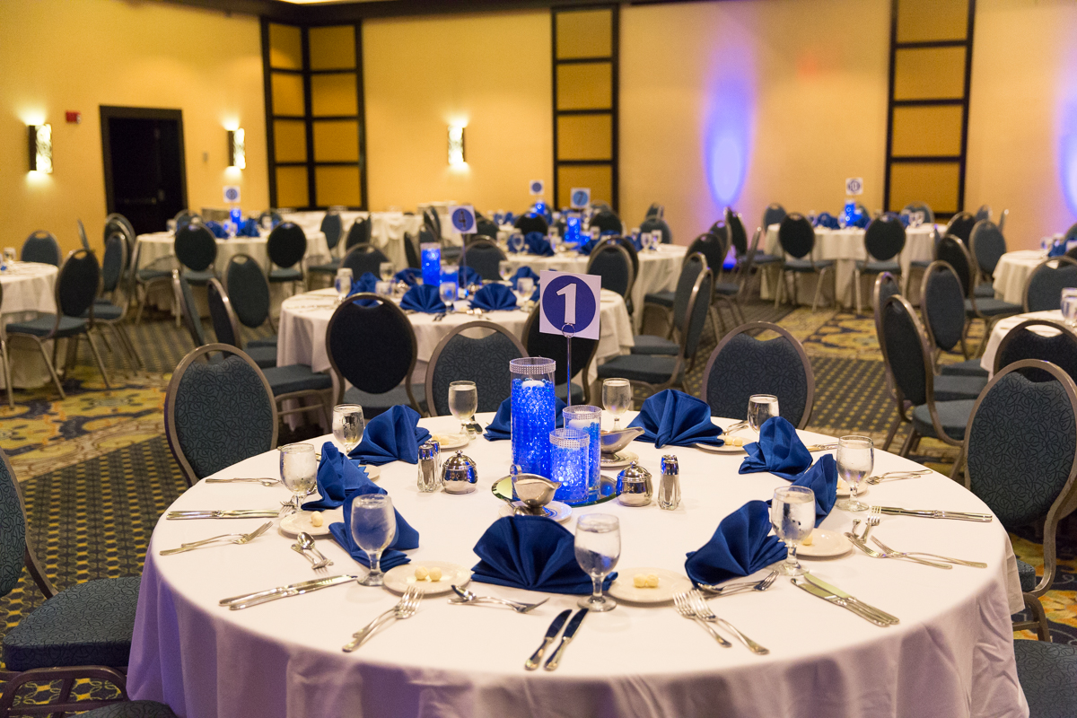 pictures of blue themed bat mitzvah party