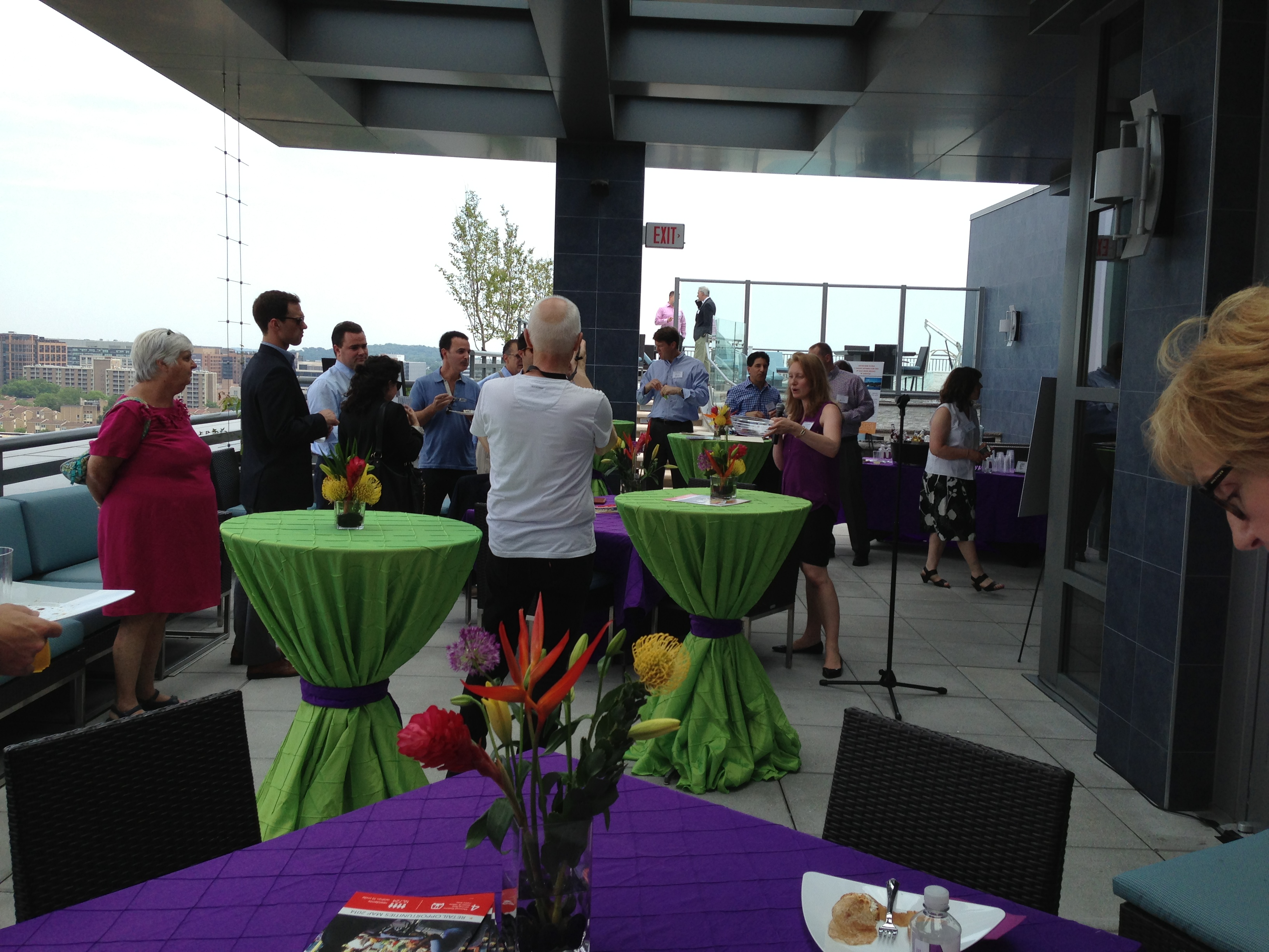 outdoor corporate broker event