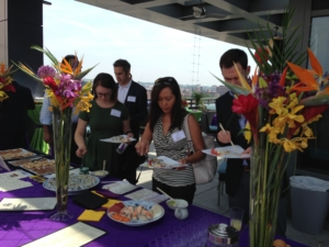 planned corporate event appetizer bar